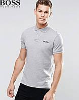 Модная серая футболка поло Boss