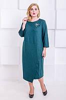 Элегантное платье размер плюс  Ingrid  малахит (60-66), фото 1