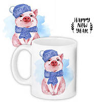 Кружка с принтом, Год свиньи (KR_PIG005)