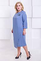 Элегантное платье размер плюс  Ingrid голубой (60-66), фото 1