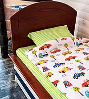 Набор постельного белья полуторный Транспорт