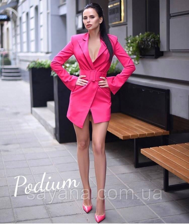 f550de9078d Купить Женское платье-жакет с широким поясом в расцветках. ПО-1-0918 ...
