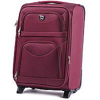 Средний тканевый чемодан Wings 6802 на 2 колесах бордовый, фото 1