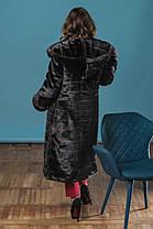 Шуба женская из эко меха 044 шоколад Размеры: 42, 44, 46, 48, 50, 52, 54, фото 2