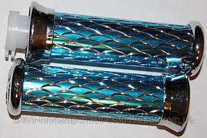 Ручки руля алюминиевые синие