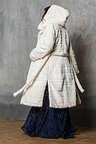 Шуба женская из эко меха 044 молочная, фото 2