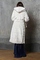 Шуба женская из эко меха 044 молочная, фото 3
