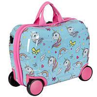 Детский чемодан-каталка на 4-х колесиках Единорог (Германия) Star Wheelie  Case fe9108458fe