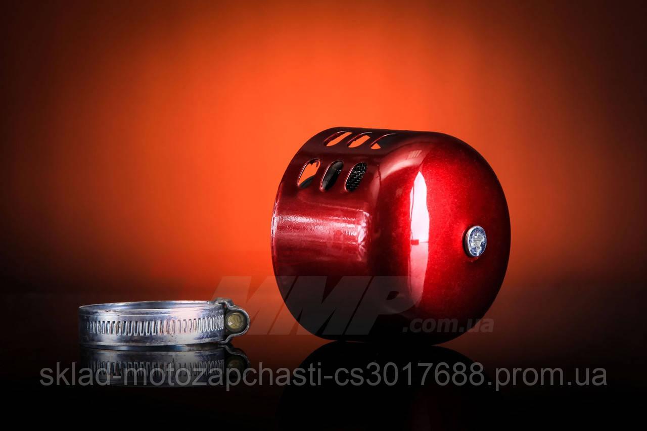 Фільтр нульовик закритий червоний d=39mm