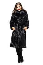 Шуба женская из эко меха 050 черная Размеры: 42, 44, 46, 48, 50, 52, 54, фото 2