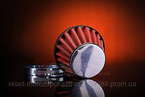 Фильтр нулевик d=28mm красный