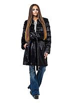 Шуба женская из эко меха 070 черная, фото 2