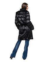 Шуба женская из эко меха 070 черная, фото 3
