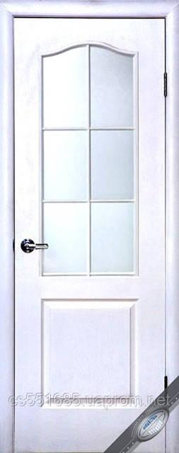 Грунтованная МДФ белая под стекло (без стекла) (60, 70, 80, 90см). Межкомнатная дверь Новый Стиль