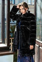 Шуба женская из искусственного меха 071 черная Размеры от 42 до 54, фото 2