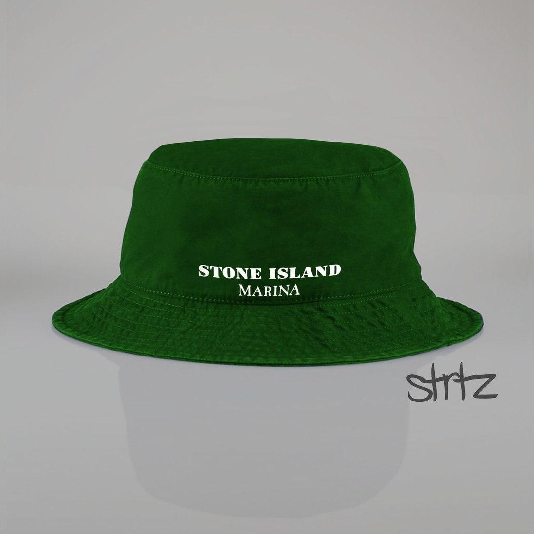 Стильная зелёная панама Stone Island