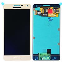 Дисплей (экран) для Samsung A500F Galaxy A5, A500FU Galaxy A5, A500H Galaxy A5 + тачскрин, белый, копия, без регулировки яркости