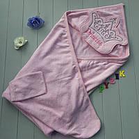 """Полотенце-уголок с капюшоном и варежкой Babyline """"Princess"""", фото 1"""