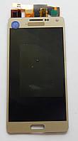 Дисплей (экран) для Samsung A500F Galaxy A5, A500FU Galaxy A5, A500M Galaxy A5 + тачскрин, золотой, копия