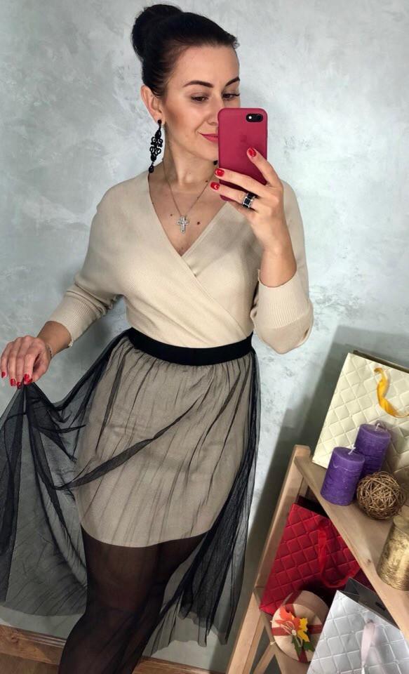 Супермодный комплект платье с фатиновой юбкой