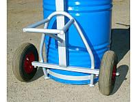 Тележка для металлической бочки мёда - бочковоз на 400 кг. Колёса (докатка). Apitherm ™