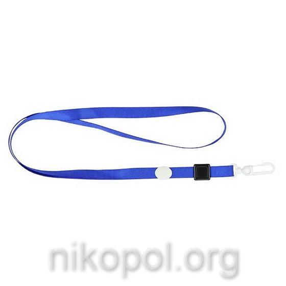 Шнурок для бейджа Axent 4531-02 с карабином, синий