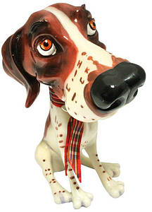Фигурка-статуэтка собачка «Сид»коллекционная из керамики h-12 см. 340-1003