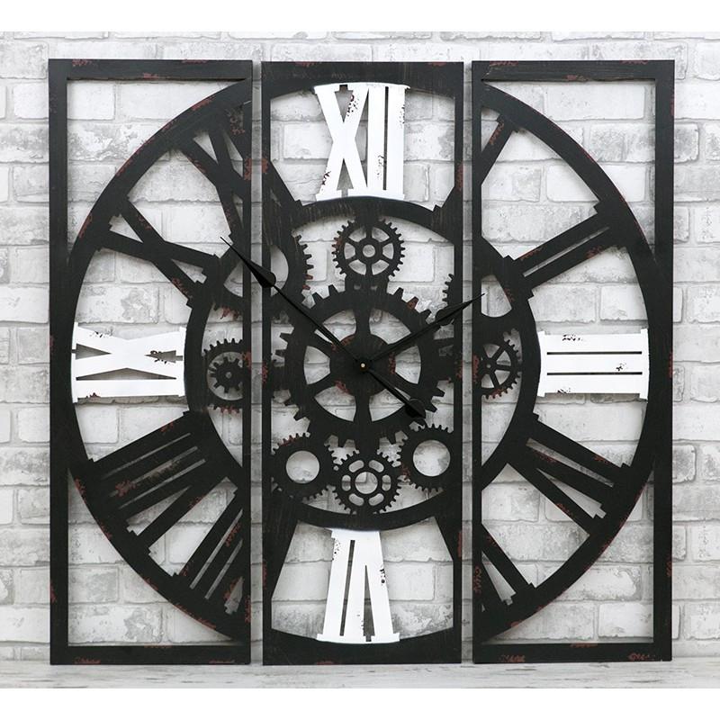 Часы настенные металлические в стиле лофт - Gothic 100