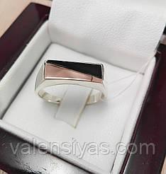 Мужской серебряный перстень с золотом и ониксом