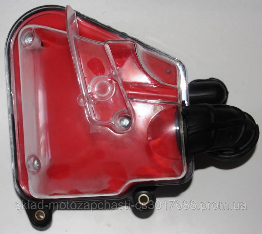 Корпус фильтра SUPER YAMAHA JOG-50 прозрачный с красным фильтром