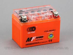 Мотоаккумулятор 12В 4Ач гелевый оражевый аутодо