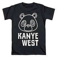 Футболка чёрная Kanye West | Стильная