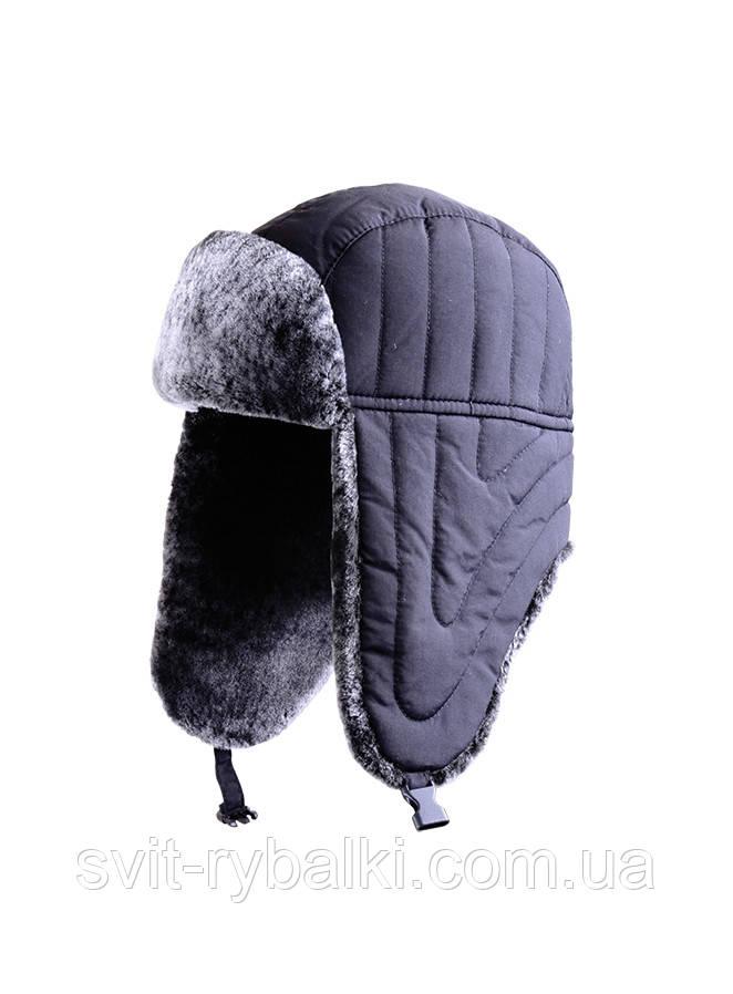 Зимняя шапка нейлон черная