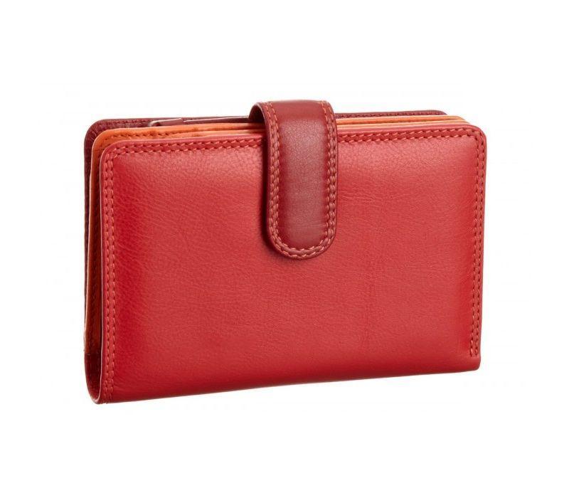 Женский кошелек Visconti RB-51 Red Multi кожаный красный