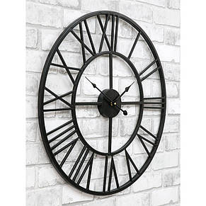 Часы настенные металлические в стиле лофт - Milano 60, фото 2