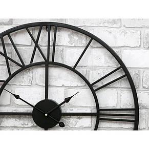 Часы настенные металлические в стиле лофт - Milano 60, фото 3
