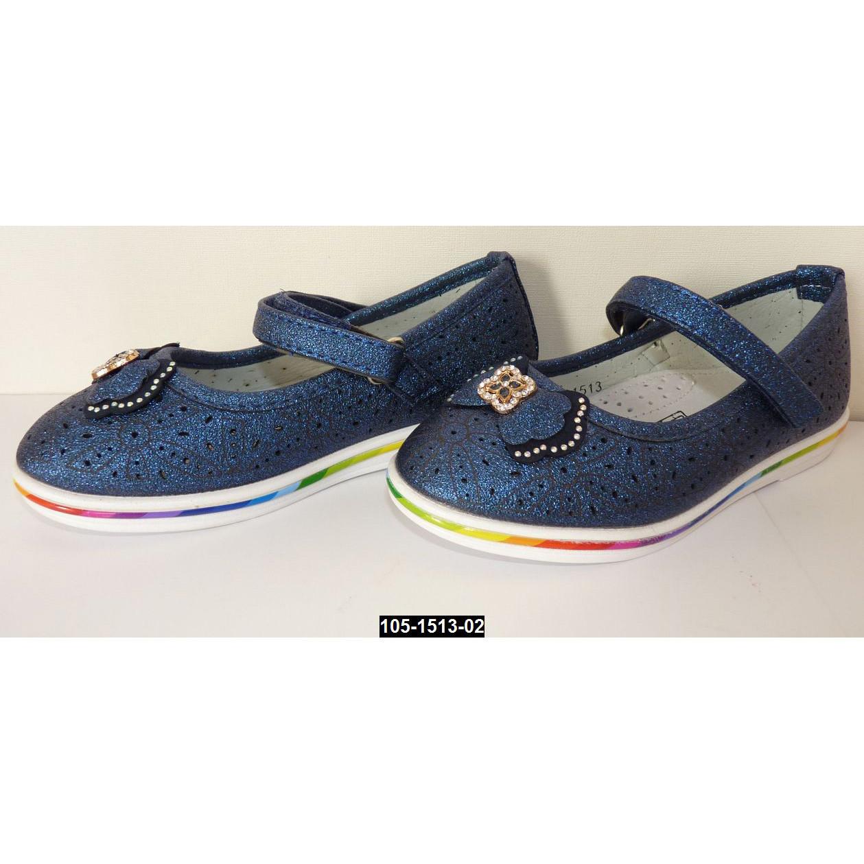 Нарядные туфли для девочки, 26 размер (16.3 см), кожаная стелька, супинатор, праздничные туфельки на выпускной