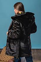 Шуба женская из искусственного меха 144 шоколад Размеры: 42, 44, 46, 48, 50, 52, 54, фото 2