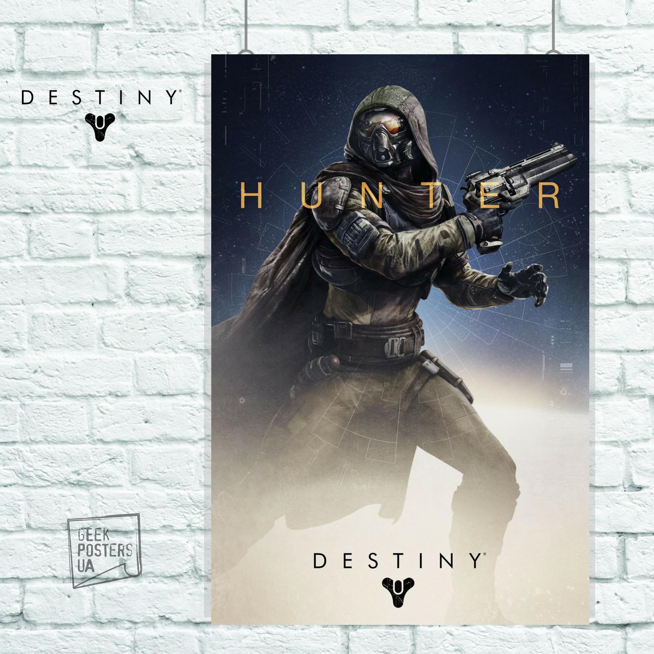 Постер Hunter. Destiny 2, Судьба 2. Размер 60x40см (A2). Глянцевая бумага