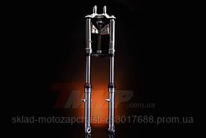 Вилка передняя Alfa d=27mm гидравлическая с внутренней пружиной NEW