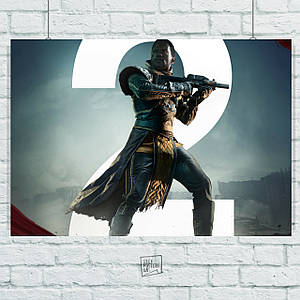 Постер Destiny 2, Судьба 2. Размер 60x42см (A2). Глянцевая бумага