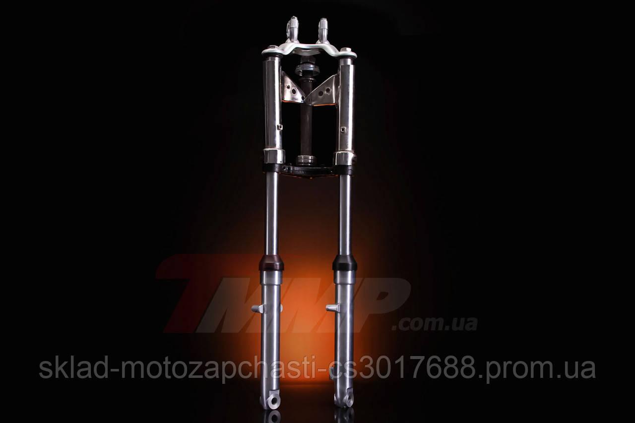 Вилка передняя Alfa/Дельта/Альфа d=27mm гидравлическая с внутренней пружиной NEW