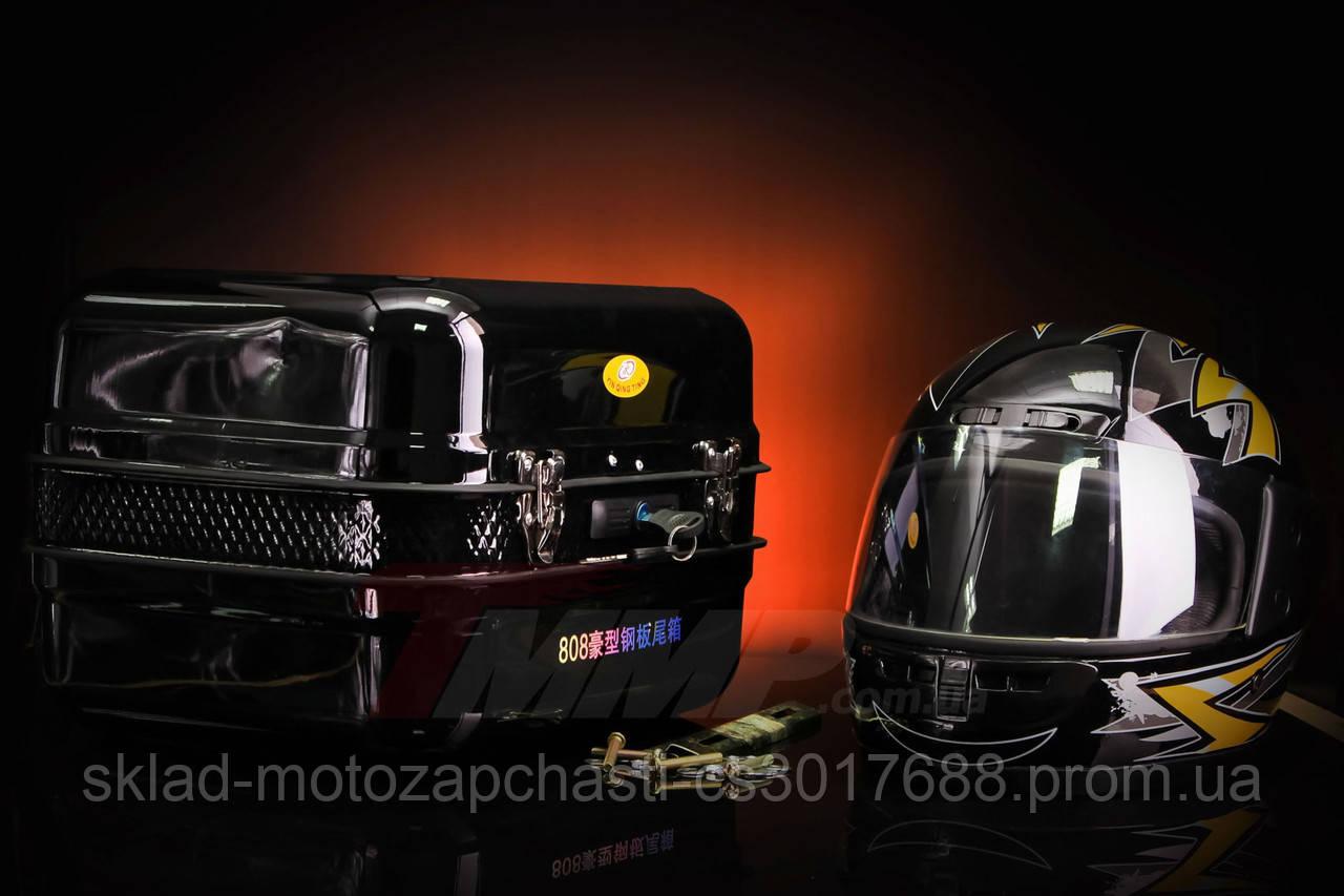 Кофра Дельта железная чёрная с шлемом