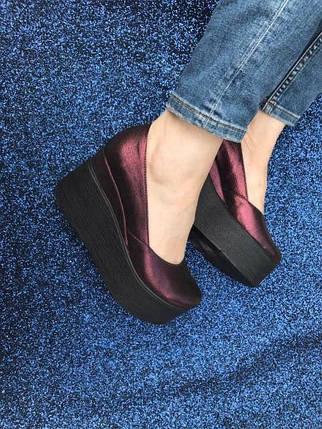 Модные кожаные туфли на платформе 36-40 р, фото 2