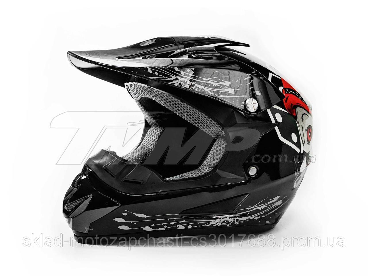 Шлем детский кроссовый размер 42