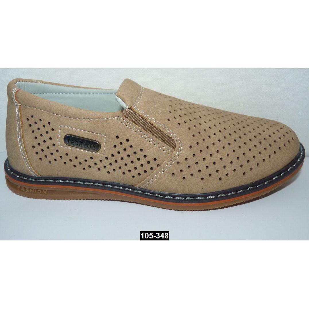 Мокасины, туфли для мальчика, 32 размер (20.6 см), супинатор, кожаная стелька, легкие