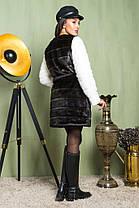 Шуба женская из искусственного меха 2-044 шоколад, фото 3