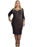 Женское коричневое платье большего размера 48-62