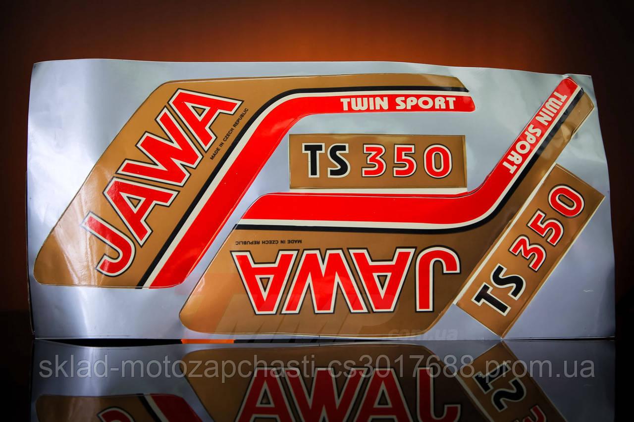 """Наклейка """"JAWA"""" (4шт, коричневий) Артикул: I-569 Опис: Наклейка """"JAWA"""" (4шт, коричневий)"""