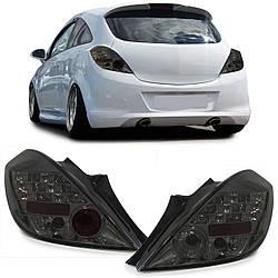 Диодные LED фонари Opel Corsa D тонированные